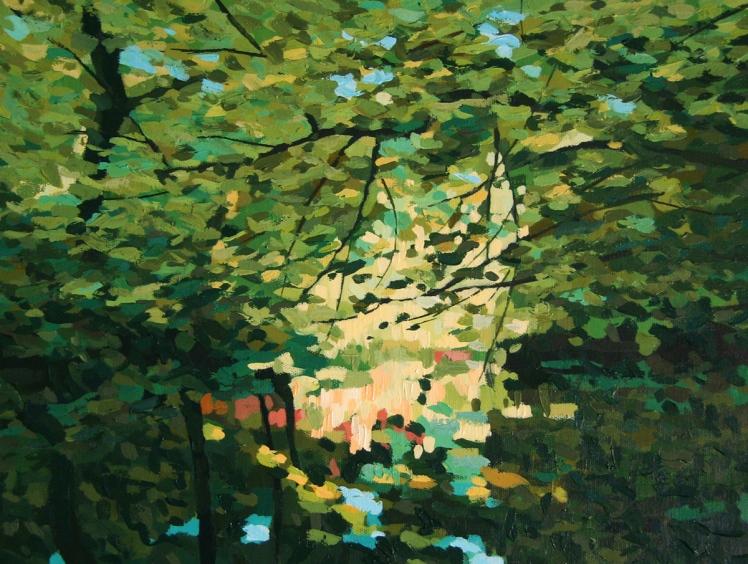 Brig o' Turk, 2005, acrylic on linen, 32 x 45 cm
