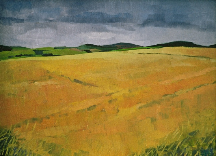 Fife Fields XV, 1996, oil on board, 12 x 9 cm