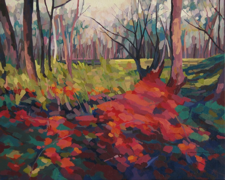 Gold Workings After Rain, 2008, oil on linen, 60 x 80 cm