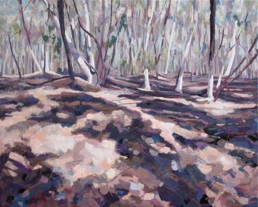 Goldmines near Maldon II, 2009, oil on canvas, 80 x 100 cm, $2850