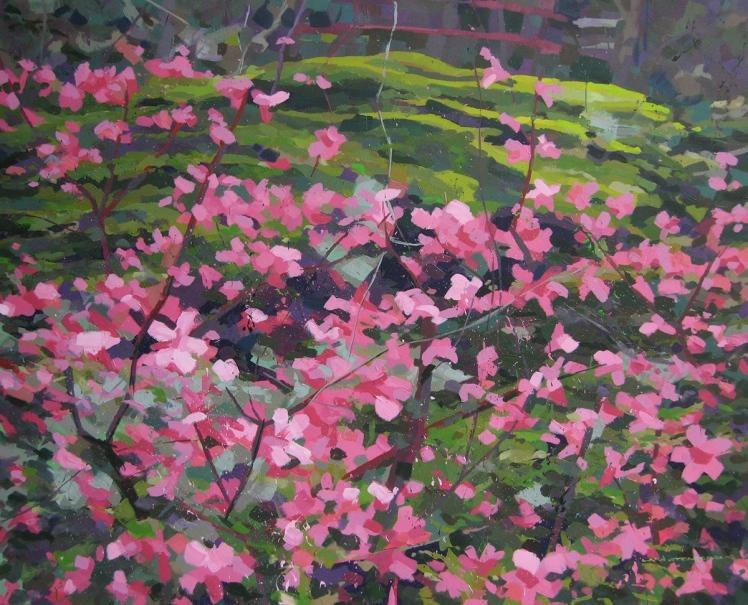 Japanese Garden, 2006, acrylic on canvas, 82 x 102 cm