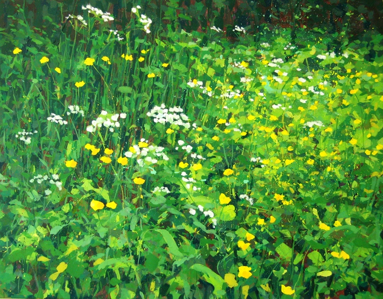 Le Fouilloux I Edge of the Forest, 2003, Acrylic on linen, 82 x 102 cm