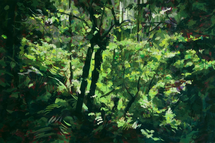 Otways I (Moment of Light), 2008, acrylic on linen, 82 x 122 cm