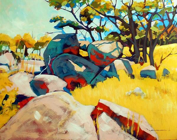 Rock of Ages II, 2008, acrylic on linen, 80 x 102 cm