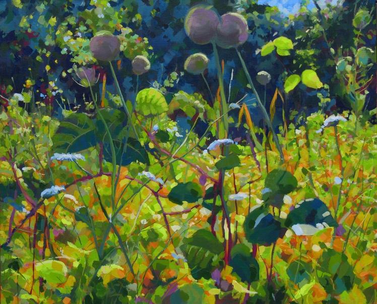 Companion Planting, 2014, acrylic on linen, 66 x 81 cm