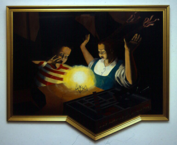 My First Atomic Science Set, 1990, oil on masonite, 100 x 120 cm approx