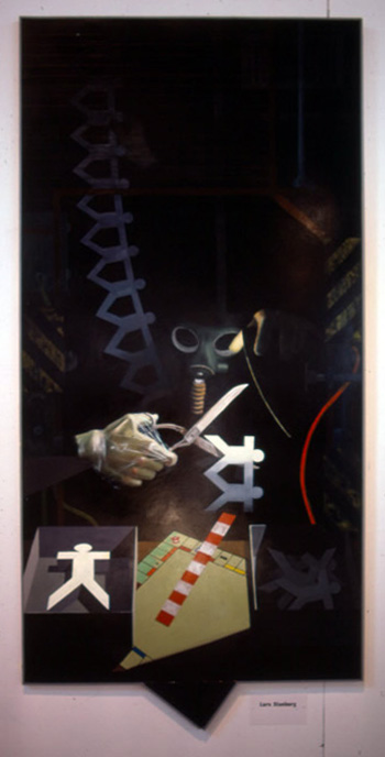 Some are More Equal, 1985, oil on masonite, 255 x 124 cm