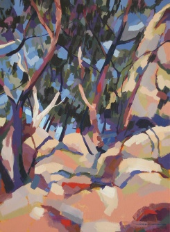 Hot Day on the Dog Rocks, 2009, acrylic on linen, 82 x 62 cm