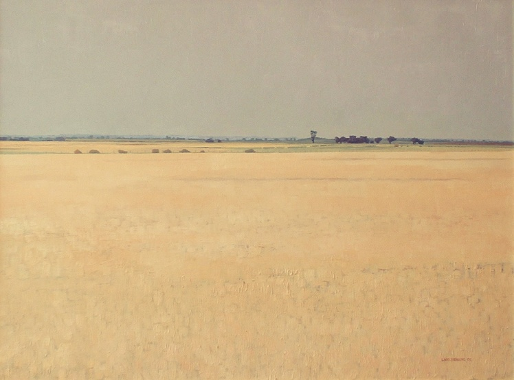 Moving Stock Near Ballan, 2005, oil on canvas, 80 x 100 cm