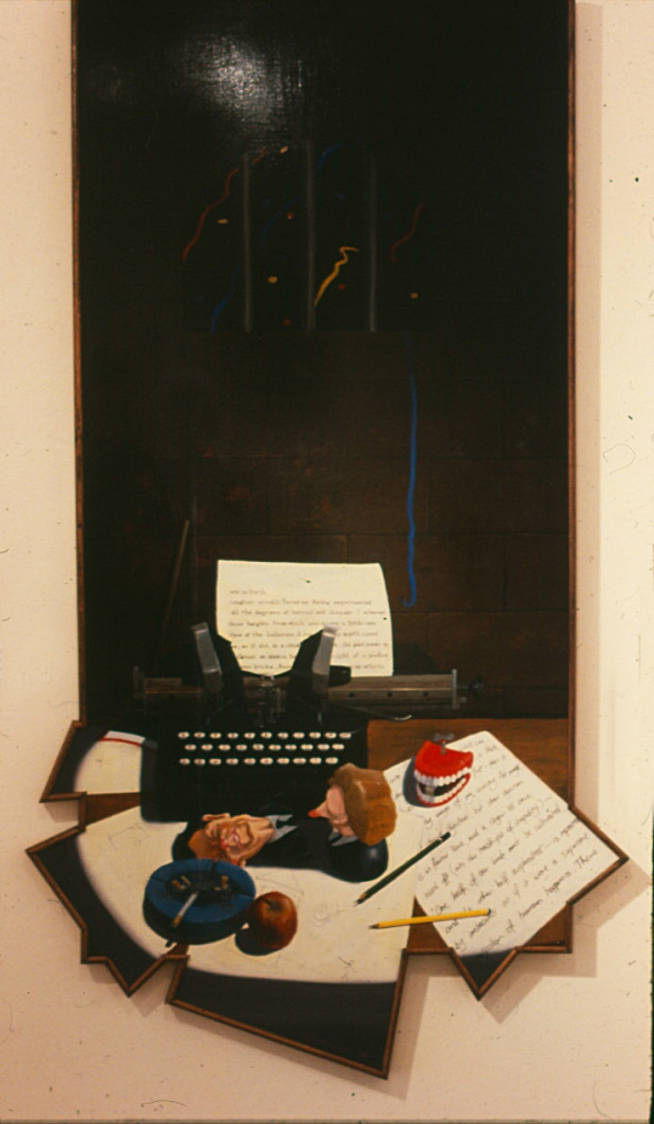 Tyrants Destroyed, 1987, oil on masonite, 180 x 88 cm