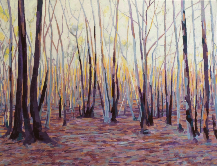 Dawn (Those Who Go), 2014, acrylic on linen,  61 x 80 cm, $1850