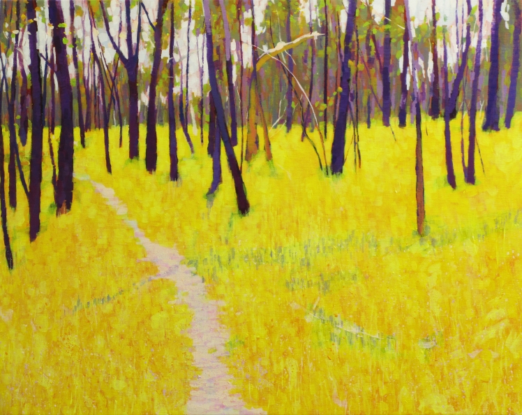 Path, 2014, acrylic on linen,  61 x 80 cm