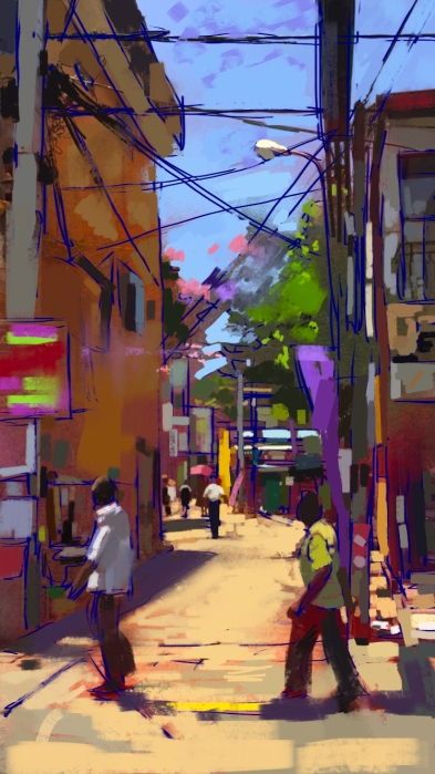 Meat Shop, digital sketch, 2016. ProCreate Pocket on iPhone 6