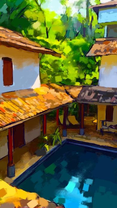 Villa, digital sketch, 2016. ProCreate Pocket on iPhone 6