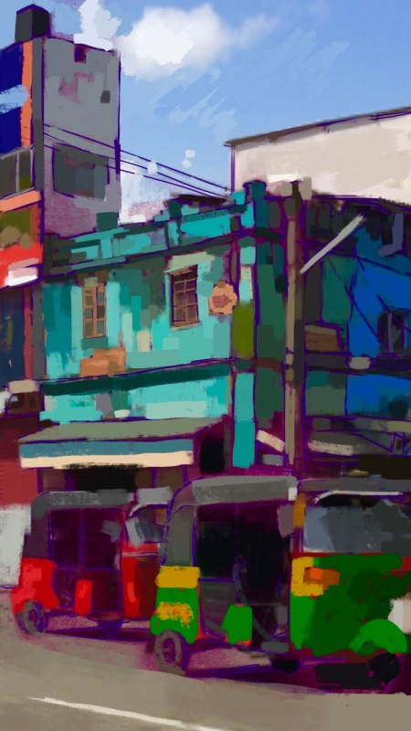 Stylo Tailors and Textiles, digital sketch, 2016. ProCreate Pocket on iPhone 6