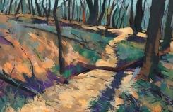 Winter Track IV, 2016, acrylic on board, 21 x 29 cm, $350