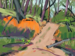 Winter Track sketch 0714