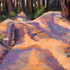Winter Track sketch 0715