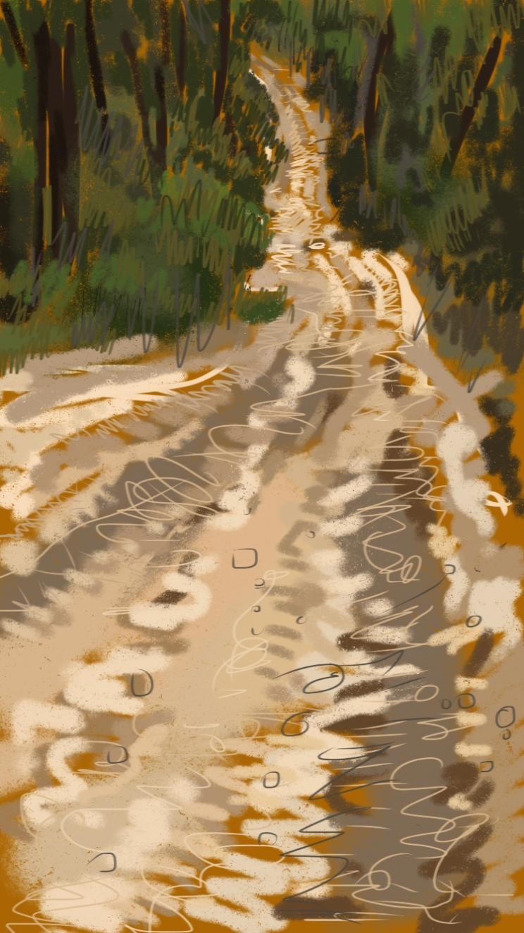 Winter Track sketch 9884