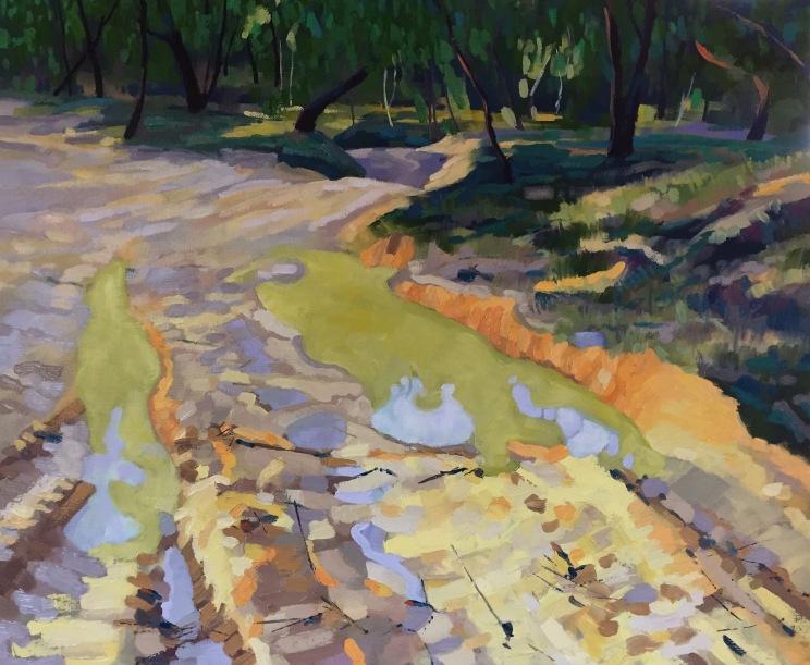 Winter Track VIII, 2017, oil on linen, 51 x 61 cm, $1650