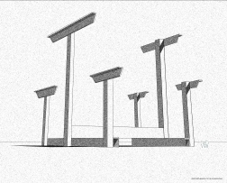 Proposed Monument to the Anthropocene, 2015, digital drawing