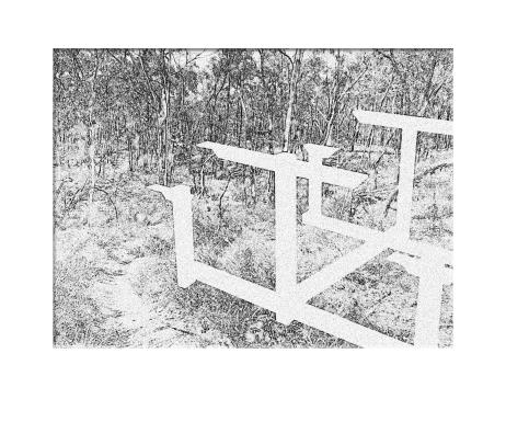 White Intrusion, 2015, digital composition
